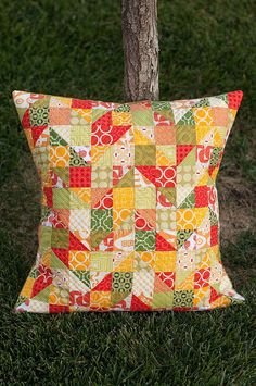 Autumn Fire and Rain Pillow | by Pitter Putter Stitch
