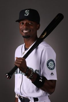 Dee Gordon of the Seattle Mariners poses for a portrait during photo day at Peoria Stadium on February 2018 in Peoria, Arizona. - 115 of 156 Mariners Baseball, Seattle Mariners, Peoria Arizona, Ichiro Suzuki, Mlb Players, Peeps, February, Portrait, Sports