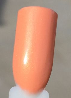 Peachy Panhellenic, Peach cream with golden shimmer, by My World Sparkles Lacquers - Handmade 5-Free Indie nail polish - Full size 1/2 oz - pinned by pin4etsy.com