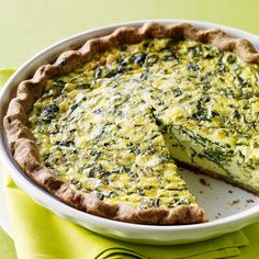 Fava Leaf and Parsley Quiche - Quiche, Frittata, & More Baked Egg Recipes - Sunset Egg Recipes, Wine Recipes, Soup Recipes, Vegetarian Recipes, Cooking Recipes, Healthy Recipes, Recipes Dinner, Healthy Meals, Yummy Recipes