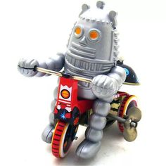 Vintage Clockwork Wind Up Ring Down Robot Classic Children Tin Toys With Key Tin Toys, Metal Toys, Classic Ro, Robot, Buy Rings, Novelty Toys, Cloche, Vintage Office, Puzzle Toys