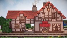 I have recently become a massive fan on Studio Ghibli films and I noticed that there was a lack of buildings from the films built in Minecraft. So I had a go at building the Bakery from Kiki's Delivery Service. View map now! Minecraft Bakery, Minecraft Shops, Minecraft Cottage, Minecraft Projects, Minecraft Crafts, Minecraft Designs, Minecraft Houses, Minecraft Stuff, Kiki Delivery