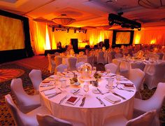 The fire themed room decor corporate event by Dittman Incentive Marketing, via Flickr