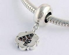 Black Friday Pandora Outlet Diamond Silver 4 Dangle Charms YB064-4
