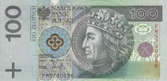 Polish banknotes 100 Zlotych note 1994, issued by the National Bank of Poland…