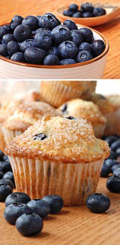 Blueberry Muffins| Adirondack Weddings Magazine
