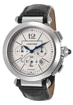 Cartier W3108555-PO Watches,Men's Pasha Automatic Black Genuine Alligator White Dial, Luxury Cartier Automatic Watches                                                                                                                                                                                 Más