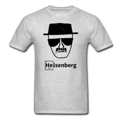 "Heisenberg sketch from ""Breaking Bad"" on a men's classic t shirt. This relaxed fit cotton t-shirt for men has a seamless rib collar with double-needle cover-stitching, shoulder-to-shoulder taping, double-needle sleeve and bottom hem. The shirt is made from 100% pre-shrunk cotton and has a relatively light fabric weight of 5.3 oz. Light oxford is made from made from 99% cotton/1% polyester. Once your purchase is complete..."