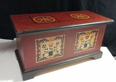 "By Yellow Breeches Co. "" The Red Seltzer Chest "" Solid WOOD Decorative BOX #Colonial #YellowBreechesCo"