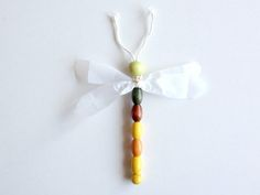 DIY Wooden Bead Dragonfly #2 (easy craft for kids)