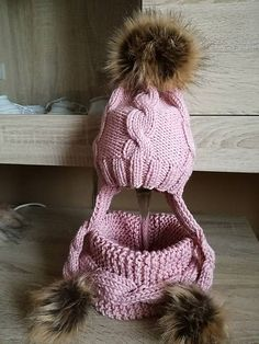 Pavlak / Ružový set Winter Hats, Fashion, Moda, Fashion Styles, Fashion Illustrations