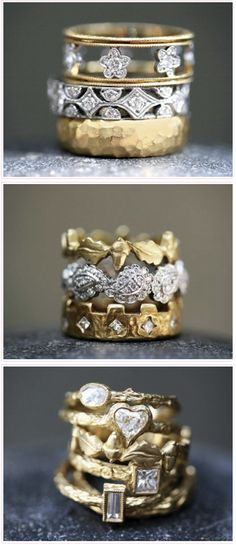 Cathy Waterman rings.