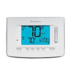 """Braeburn Model 5020 1 Heat/1 Cool Programmable Thermostat by Braeburn. $82.95. Braeburn Model 5020 1 Heat/1 Cool Programmable Thermostat The universal auto changeover thermostat shall be a Braeburnmodel number 5020, 3.86"""" high x 5.11"""" wide x 1.42"""" deep, powered with either 24 Volt AC or with two """"AA"""" Alkaline batteries (3.0 Volt DC). In the event of a power failure, the unit shall retain all user, installer and program settings. The thermostat shall be compatible w..."""