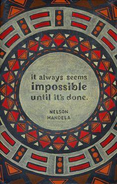 Week 10: Nelson Mandela Chalkboard on Behance by Dangerdust