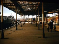 Hymek and Peak at Mangotsfield Station, Nov 1965 Bristol England, Disused Stations, Gloucester, Trains, Castle, British, Bath, Pictures, Image