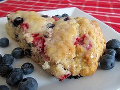 Home Skillet - Cooking Blog: Mixed Berry Scones with Lemon Glaze