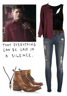 """""""Dean Winchester - spn / supernatural"""" by shadyannon ❤ liked on Polyvore featuring The Elder Statesman, Koral, Chrome Hearts and River Island"""