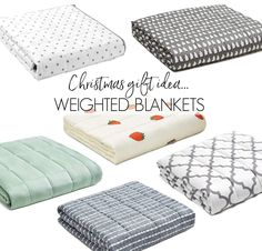 Weighted blankets are a great idea to add to your Christmas wish list! Love these that have lots of size, pattern, and weight options!