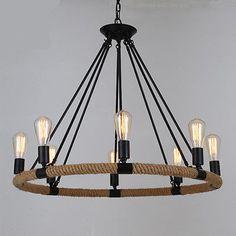 dc490279b2d Modern 6 8 Iron Resin E27 Rustic Chandelier Ceiling Lamp Fixture Pendant  Light