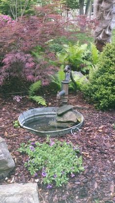 Our Antique water pump fountain