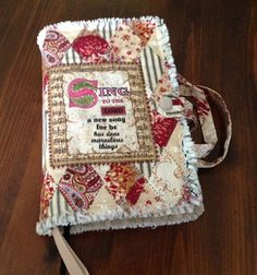 Handmade Rag Quilted Bible Cover Beige Patchwork by DebsRagDesigns, $ ...
