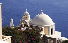 Santorini, Greece.  I've seen this building!! Would totally go to any of the other Mediterranean Islands!