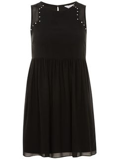 black stud smock dress