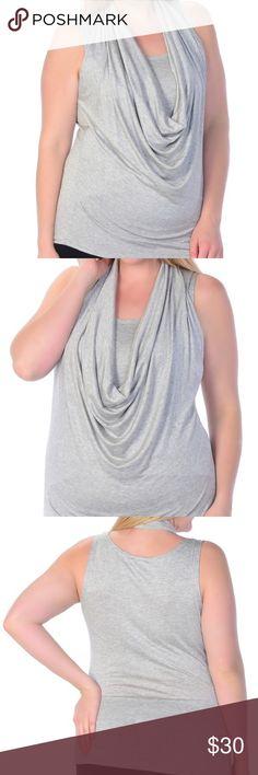 NEW! Plus Size 💋 Draped Cowl Front Sleeveless Top Plus size Deep drape neck blouse 97 % Rayon 3 % spandex Tops Blouses