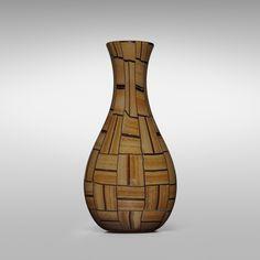 Ercole Barovier. monumental Tessere Ambra vase. 1957, alternating tessere edged in amethyst. 9 w x 6½ d x 18 h in. result: $32,500. estimate: $10,000–15,000.