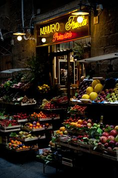 Night Market in Florence, Italy