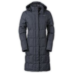 The North Face Women's Metropolis Down Parka Coat ($289) ❤ liked on Polyvore featuring the north face
