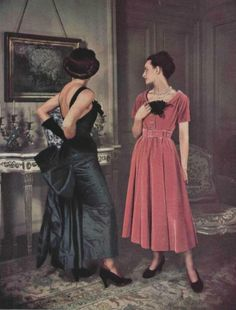 1948 - Marcel Rochas and  Balenciaga dresses