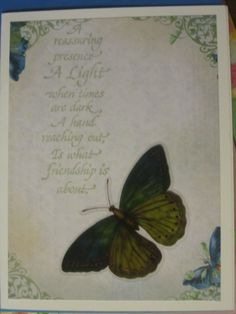 Butterfly Greeting Card  www.caguimbalcreations.weebly.com