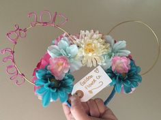 Graduation Class of 2017 Disney Mouse Ears by GoldenFlowerCo