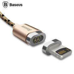 De baseus magnética adaptador micro usb cable de datos cable de carga para iphone 5 se 6 6 s 7 plus ipad samsung micro cargador imán Cable