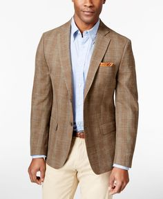 The inviting windowpane pattern and the comfortable, classic fit make this Michael Michael Kors sport coat ideally suited for your signature style. | Wool/polyester/linen | Dry clean | Imported | Notc