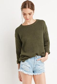 Forever 21 is the authority on fashion & the go-to retailer for the latest trends, styles & the hottest deals. Denim Cutoffs, Distressed Denim Shorts, Ripped Shorts, Style Me, Latest Trends, Turtle Neck, Pullover, Sweaters, Forever 21