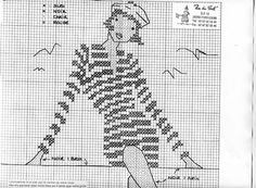 point de croix femme , cross stitch woman