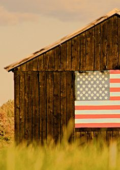 Barn with American Flag by bmason1270, via Flickr
