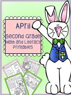 April Easter Spring Second Grade Math and Literacy printable packet - common core aligned. 40 pages for $5!!