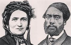 WANTED: Ellen and William Craft. 1826-1891. 1824-1900. American slaves who escaped slavery in the Deep South by Ellen passing herself off as a 'white male slave master' and her husband as her slave property.