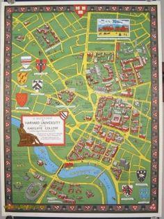 A Scott-Map of Harvard University and of Radcliffe College Cambridge, Massachusetts by MASSACHUSETTS - HARVARD on oldimprints.com