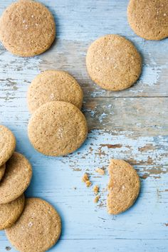 Almond Butter Cookies with Fleur de Sel *These Almond Butter Cookies are vegan, gluten-free, refined sugar-free, and protein-packed.*