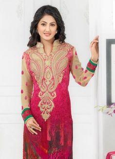 stunning photoshoot of Prachi Desai in Indian Tradtional look Churidar Suits, Salwar Kameez, Prachi Desai, Indian Party Wear, Suit Fabric, Desi Clothes, Beautiful Lines, Bollywood Actress, Tunic Tops