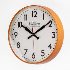 The Corby Wall Clock - Orange