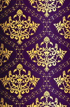 beautiful purple and gold pattern