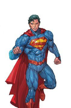 #Superman #Fan #Art. Artists interpretation of Superman. By: Kenneth Rocafort.
