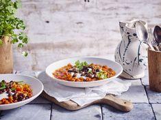 Goulash, Curry, Gluten, Ethnic Recipes, Sour Cream, Sweet Potato, Lamb, World Cuisine, Bon Appetit