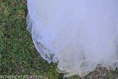 This DIY Tulle Ghost costume floats and will make a big impact this Halloween. | In The Next 30 Days