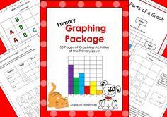 BEST SELLER!  This Graphing Package contains 50 printable pages (worksheets, posters, word wall words, a graphing math center, a word search, and a 2-page test) to use in your primary classroom.